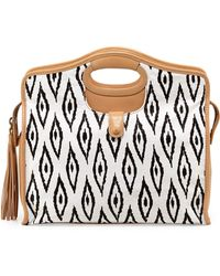 Cynthia Vincent - Ally 3 Southwestern-Print Leather Tote Bag - Lyst
