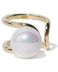 Pixie Market - Jumbo Pearl Asymmetric Ring - Lyst