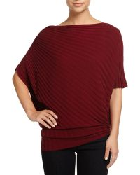 Max Studio   Ribbed Knit Sweater Poncho   Lyst