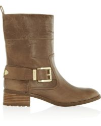 MICHAEL Michael Kors Roswell Glossed-leather Ankle Boots - Lyst