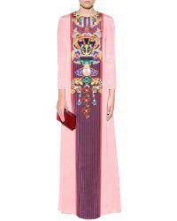Mary Katrantzou Sentinel Printed Silk Dress - Lyst
