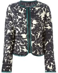 Duvetica Flower-Print Quilted Jacket - Lyst