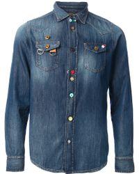 Diesel Blue Denim Shirt - Lyst
