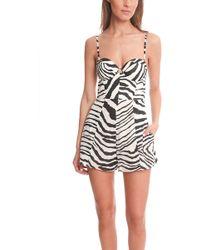 Zimmermann Hyper Zebra Bustier Romper black - Lyst