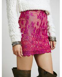 Free People Flower Bomb Slip Skirt - Lyst