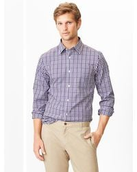 Gap Noniron Colorful Gingham Shirt - Lyst
