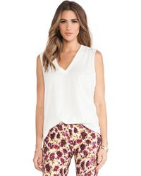 Novella Royale - Muse Deep V Cotton Tank - Lyst