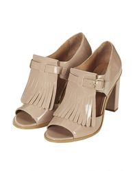 Topshop Gambit Cutout Fringe Shoes - Lyst