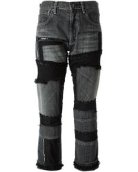 Junya Watanabe Patchwork Jeans - Lyst
