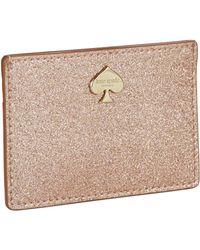 Kate Spade Glitter Bug Cardholder - Lyst