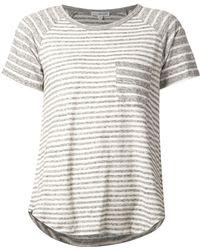 James Perse Striped Raglan T-Shirt - Lyst