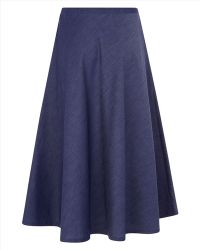 Jaeger Chambray Skirt - Lyst