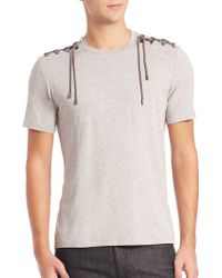 Versace | Lace-up Shoulder Tee | Lyst