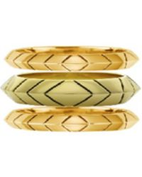 House Of Harlow 1960 Aztec Stack Rings gold - Lyst