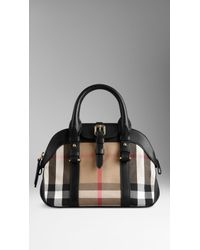 Burberry Small House Check Bowling Bag - Lyst