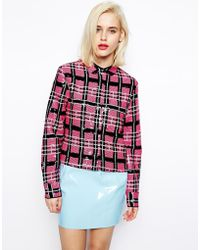 Asos Sequin Check Shirt - Lyst