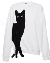 Alexis Mabille - White Cat Sweatshirt - Lyst