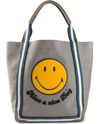 Anya Hindmarch Smiley Pont Tote Bag - Lyst