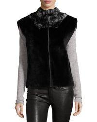 Tasha Tarno - Funnel-Collar Rabbit Fur Vest - Lyst