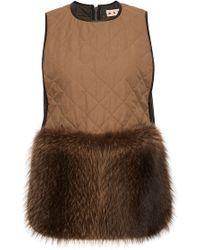 Marni Quilted Raccoon Fur Waistcoat - Lyst