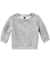 Topshop Mini Stitch Detail Sweat gray - Lyst