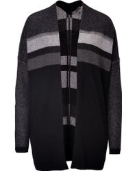 Vince Woolcashmere Striped Cardigan - Lyst