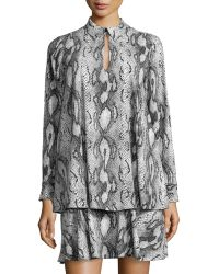 Rachel Zoe Sharona Snake-print Layered Shirtdress - Lyst