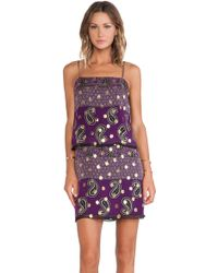 Anna Sui Paisley Print Tank Dress - Lyst