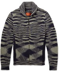 Missoni Striped Cashmere and Woolblend Cardigan - Lyst