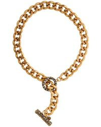 Camille K - Stella One Tone Necklace - Lyst