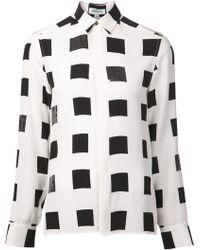 Kenzo Square Print Shirt - Lyst
