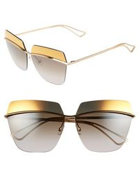 Dior Women'S 63Mm Retro Metal Sunglasses - Rose Gold/ Brown - Lyst