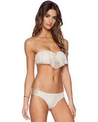 Ella Moss Boho Sweetheart Bra Bikini Top beige - Lyst