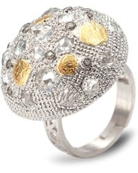 Coomi - Opera Silver Crystal & Diamond Dome Ring - Lyst