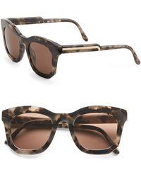Stella McCartney 48Mm Oversized Square Sunglasses/Grey Tortoise - Lyst