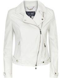 Armani Jeans Biker Jacket - Lyst