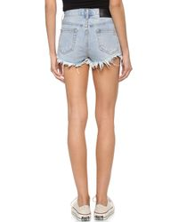 UNIF - Route Shorts - Washed Blue - Lyst