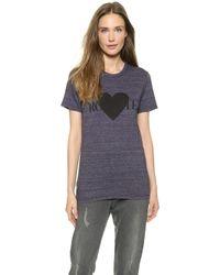 Rodarte Rohearte with Heart T-shirt - Purple - Lyst
