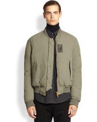 Acne Studios Stretch Cotton Bomber Jacket - Lyst