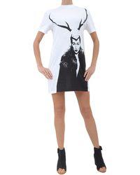McQ by Alexander McQueen T-Shirt-Horn-Print-Dress - Lyst