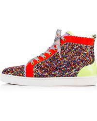 Christian louboutin Men\u0026#39;s Louis Flat Sneakers in Beige for Men ...