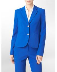 Calvin Klein Two Button Cobalt Blue Suit Jacket - Lyst