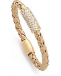 Liza Schwartz - Pave Glam Bar Leather Bracelet - Lyst