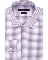 John Varvatos Slim Fit Graphic Check Dress Shirt purple - Lyst