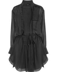 Isabel Marant Carla Silkgeorgette Mini Dress - Lyst