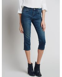 Free People Blue Super Crop - Lyst
