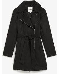 Bb Dakota Melton Skirted Coat black - Lyst