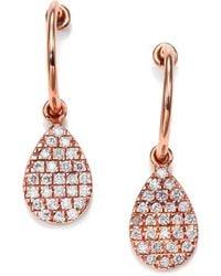 Diane Kordas Diamond & 18K Rose Gold Teardrop Earrings - Lyst