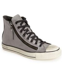 Converse X John Varvatos 'Chuck Taylor All Star' High Top Leather Zip Sneaker - Lyst
