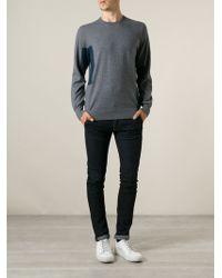 Paul Smith Side Petrol Blue Contrast Sweater - Lyst